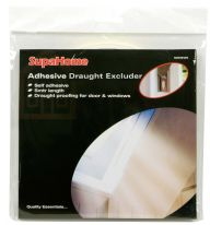 SupaHome Adhesive Draught Excluder White - 4x 9mm x 5m